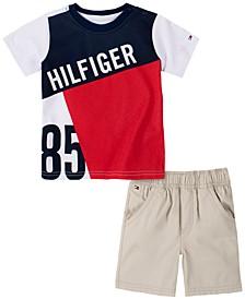 Baby Boys 2-Pc. Colorblocked Logo T-Shirt & Shorts Set