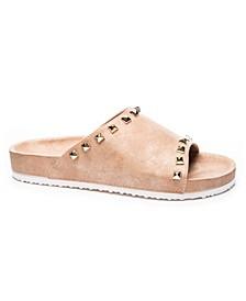 Qiana Shimmer Women's Footbed Sandal