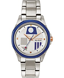 Citizen Eco-Drive Women's Star Wars R2-D2 Stainless Steel Bracelet Watch 35mm