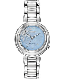 Eco-Drive Women's Elsa Diamond-Accent Stainless Steel Bracelet Watch 31mm