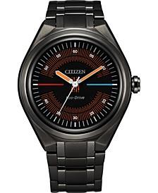 Eco-Drive Men's Star Wars Bespin Black Stainless Steel Bracelet Watch 42mm