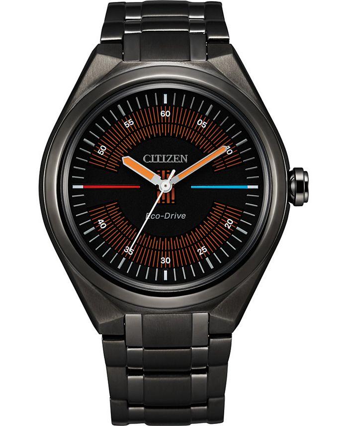 Citizen - Men's Star Wars Bespin Black Stainless Steel Bracelet Watch 42mm
