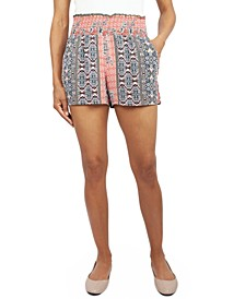 Juniors' Smocked Soft Shorts