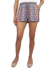 Juniors' Printed Soft Shorts
