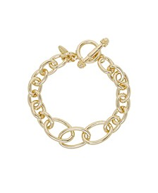Simple Chain Link Bracelet With toggle