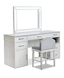 Carzen Glossy 3-Piece Vanity Set