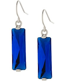 Crystal Rectangle Drop Earrings in Sterling Silver, Created for Macy's