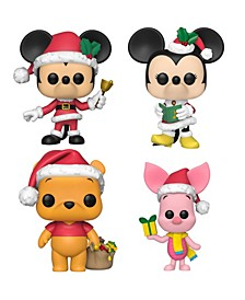 Pop Disney Holiday Collectors Set - Mickey Mouse, Minnie Mouse, Winnie The Pooh, Piglet