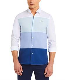 Men's Colorblocked Cotton Poplin Shirt