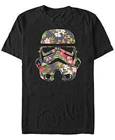 Men's Star Wars Tropical Stormtrooper Floral Print Short Sleeve T-shirt