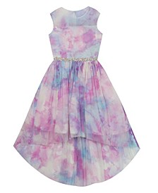 Toddler Girls Tie Dye Mesh Hi-Low Dress