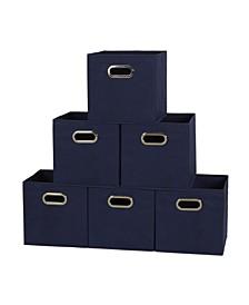 Household Essential Fabric Storage Bins 6 Piece Set