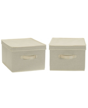 Household Essentials HOUSEHOLD ESSENTIAL LARGE FABRIC STORAGE BINS 2 PACK