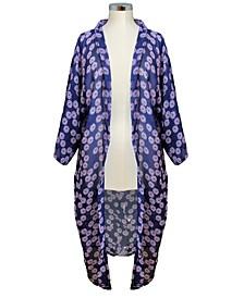 Tossed Floral Kimono
