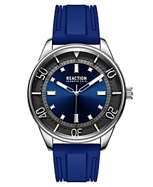 Men's Dress Sport Round Blue Silicon Strap Watch 46mm