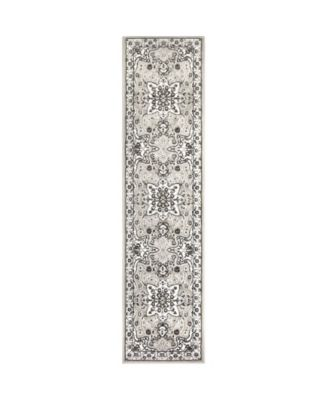 """Haven Lane Hal06 Gray and Ivory 1'8"""" x 7'2"""" Runner Rug"""