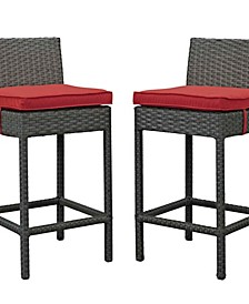 Sojourn Outdoor Patio Sunbrella Pub Set 2 Piece