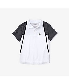 Little Boys Sport Short Sleeve Colorblock Polo Shirt with Mesh Inset
