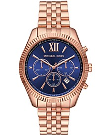 Women's Lexington Chronograph Rose Gold-Tone Stainless Steel Watch 42mm