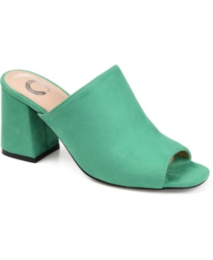 Slide into this new design for a new season. The Adelaide slide is a vegan suede material with soft feel to the touch. It also features a peep toe design. It\\\'s classic style is a versatile piece in your wardrobe and a must-have this year.