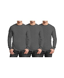 Men's 3-Pack Egyptian Cotton-Blend Long Sleeve Crew Neck Tee