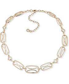 "Gold-Tone Openwork Collar Necklace, 16"" + 3"" extender"