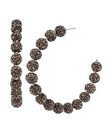 New York Caviar Beaded Hoop Earrings