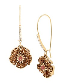 New York Flower Long Drop Earrings