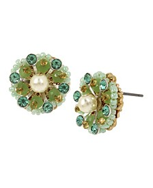 New York Flower Stud Earrings