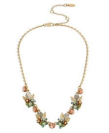 New York Flower Cluster Frontal Necklace