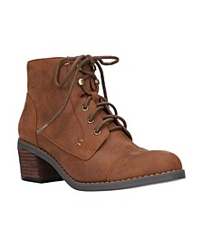 Sarina Lace Up Booties