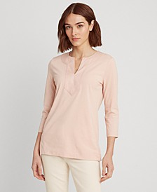 Jersey Elbow-Sleeve Top