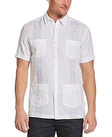 Men's Fashion Tile Embroidered Guayabera Shirt