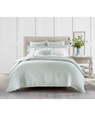 Sleep Luxe Aloe Scroll Cotton 800 Thread Count 3 Pc. Comforter Set, Twin, Created for Macy's