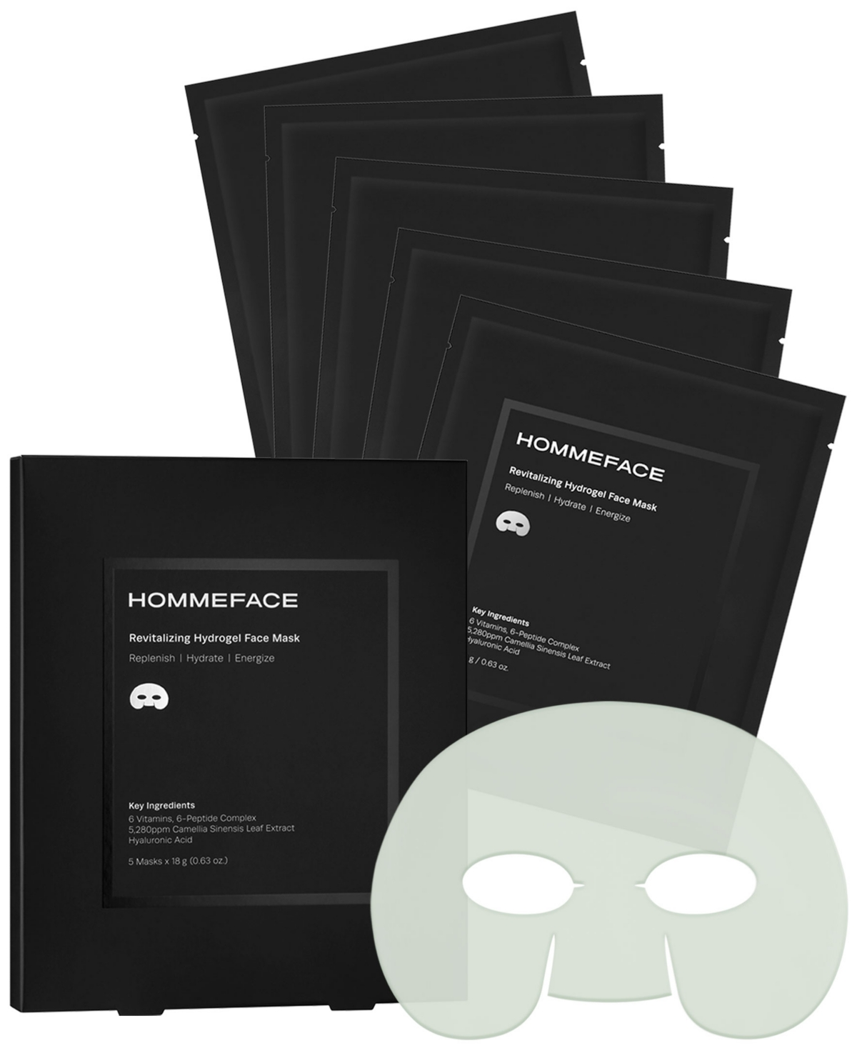 Men's Revitalizing Hydrogel Facial Sheet Mask Set