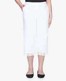 Women's Missy Bella Vista Lace Trim Capri Pants