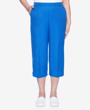 Women's Missy Look On The Brightside Grommet Trim Capri Pants