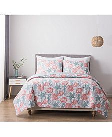 Hedaya Home South Beach Full/Queen Cotton Quilt and Sham Set