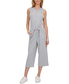 Half-Zip Sleeveless Jumpsuit