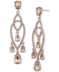 Pavé & Shaky Crystal Chandelier Earrings