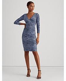 Print Wrap-Style Jersey Dress