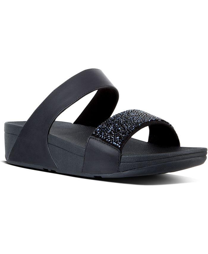 FitFlop - Women's Sparklie Crystal Slide Sandals