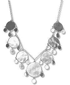 """Silver-Tone Disc Statement Necklace, 18"""" + 2"""" extender"""