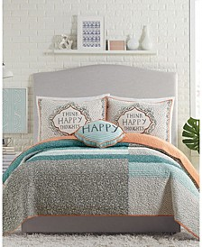 Molly Hatch by Happy Thoughts 3-Piece King Quilt Set