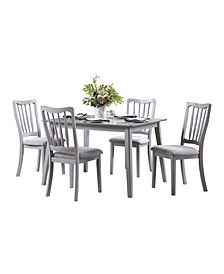 Homelegance Baldwyn Dining Room Table and Chairs, Set of 5