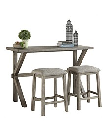 Homelegance Emmeline Counter Height Dining Room Table and Stools, Set of 3