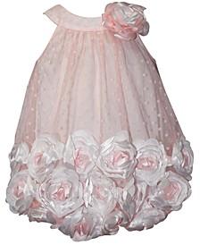 Baby Girls 3D-Flower Chiffon Bubble Dress