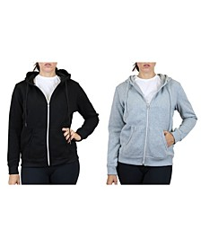 Women's Fleece Lined Zip Hoodie, Pack of 2