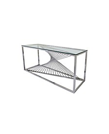 Art Deco Glass Top Sofa Table