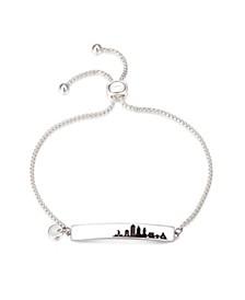 Fine Silver Plated New York City Bar Bolo Bracelet